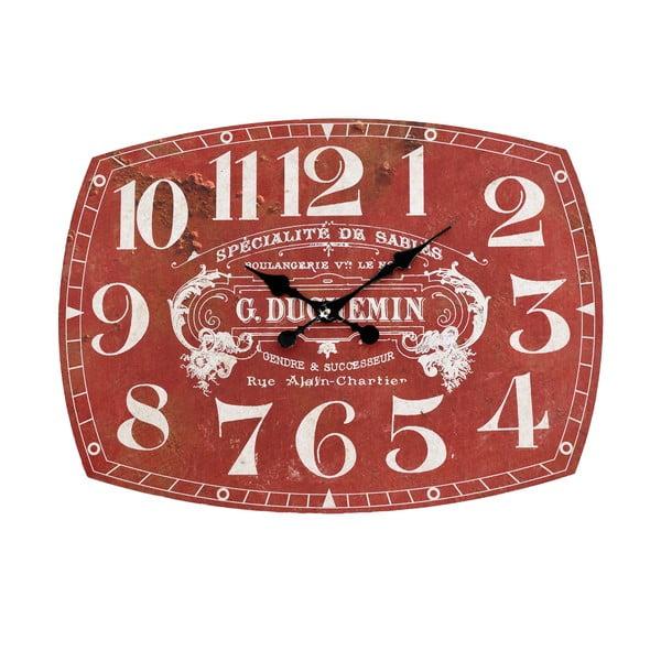 Nástěnné hodiny InArt Depot, červené