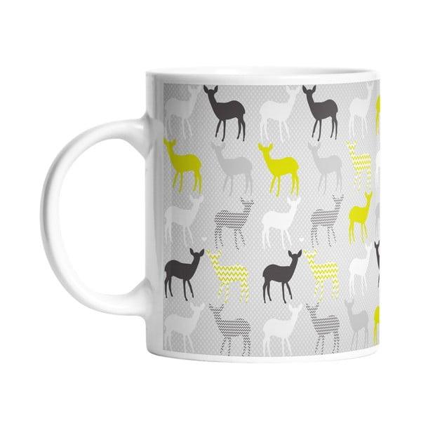 Keramický hrnek Lime Deers, 330 ml