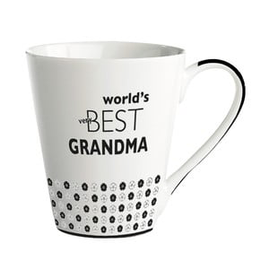 Porcelánový hrnek KJ Collection World's Best Grandma, 300 ml