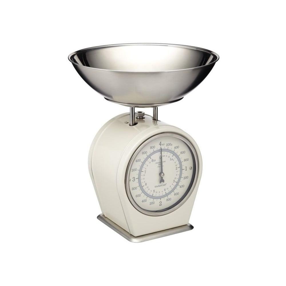 Krémová kuchyňská váha Kitchen Craft Living Nostalgia, 4 kg