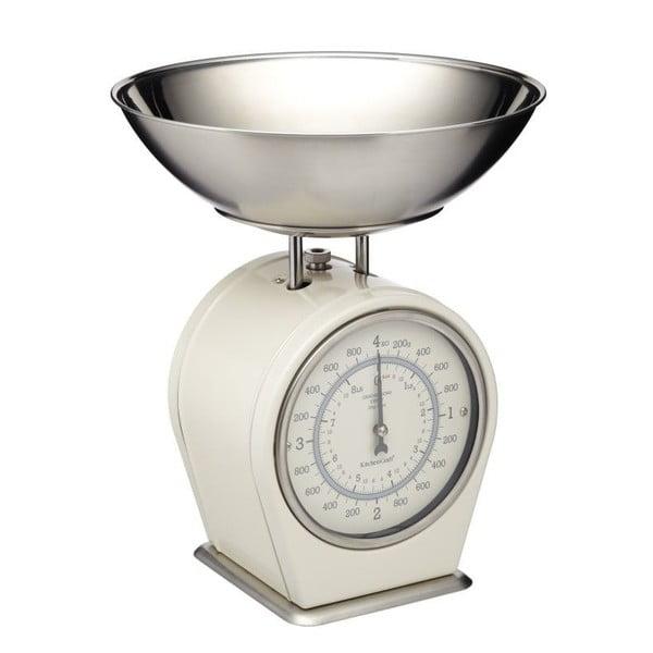 Krémovobiela kuchynská váha Kitchen Craft Living Nostalgia, 4kg