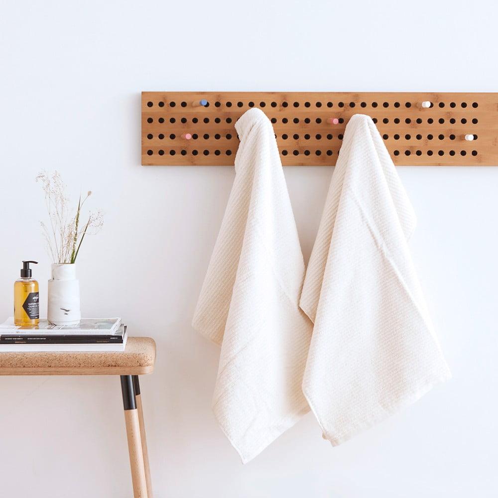 set 2 prosoape frotir casa di bassi stripe 70 x 140 cm alb bonami. Black Bedroom Furniture Sets. Home Design Ideas