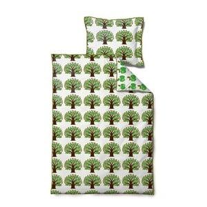 Povlečení Jubilee Tree Green, na jednolůžko (100x140 cm)