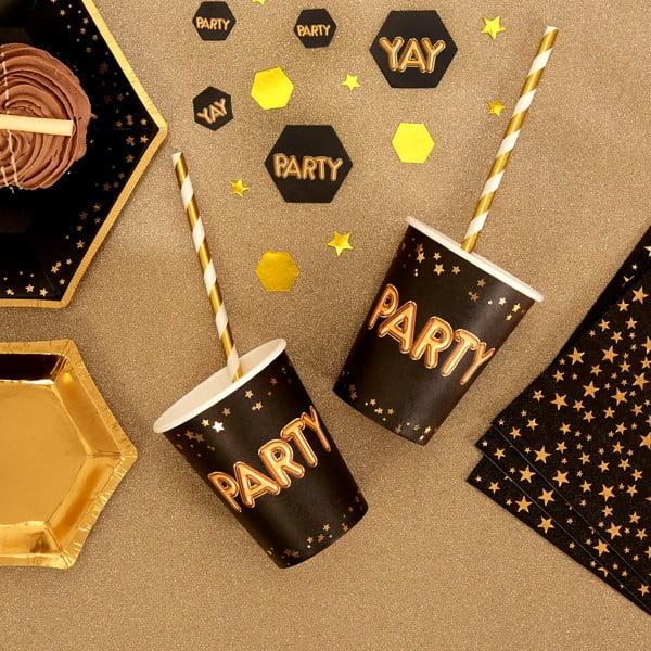 Sada 8 papírových kelímků Neviti Glitz & Glamour Party, 200 ml
