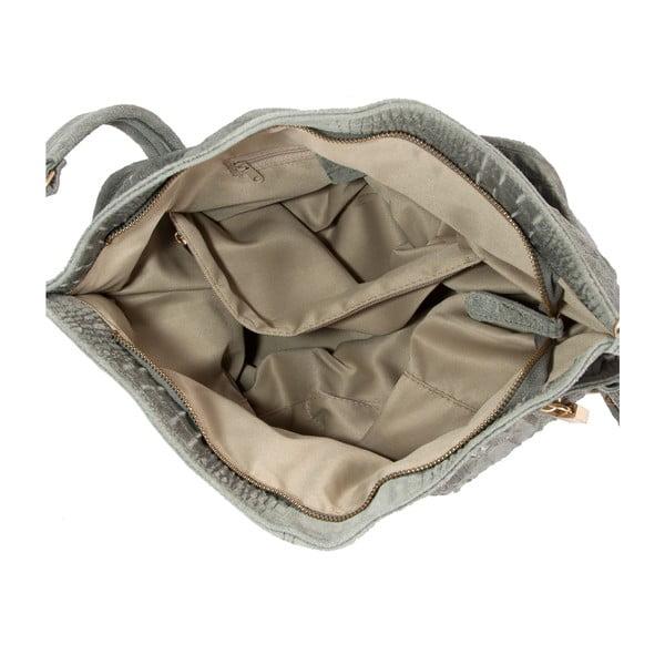 Šedá kabelka z pravé kůže Andrea Cardone Edvige