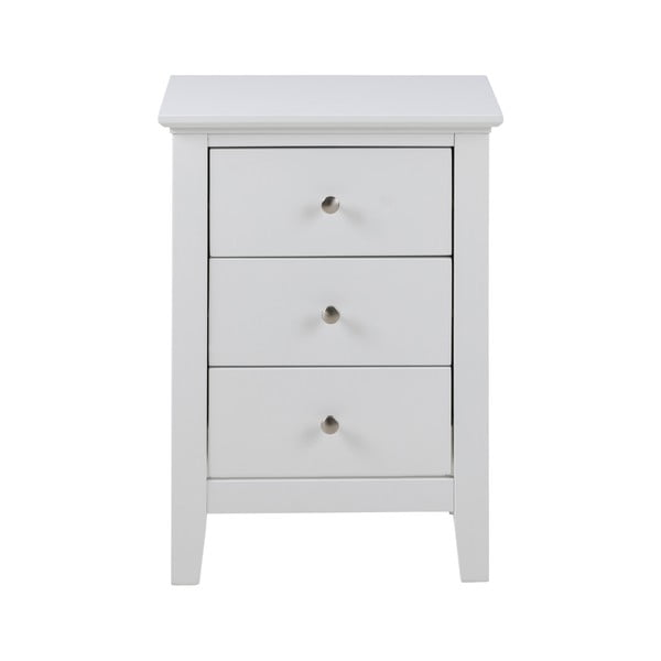 Biely nočný stolík s 3 zásuvkami Actona Linnea