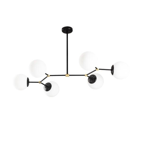Černé závěsné svítidlo pro 6 žárovek Opviq lights Damar Horizontal