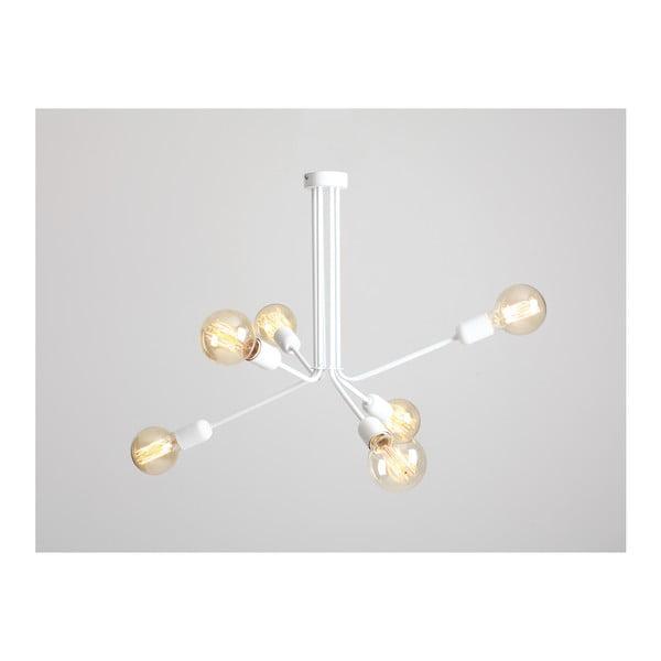 Bílé závěsné světlo pro 6 žárovek Custom Form Vanwerk Duo
