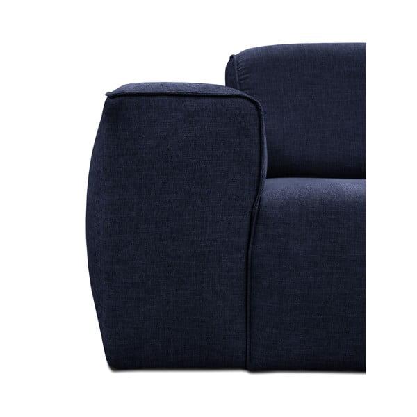 Modrá trojmístná pohovka s pufem Cosmopolitan Design Phoenix