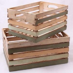 Sada dvou dřevených přepravek Dakls Rustic