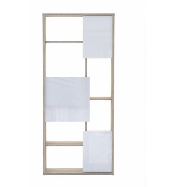Knihovna ve světlém dubovém dekoru s bílými detaily 13Casa Trend