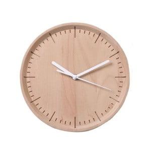 Bílé hodiny z bukového dřeva Qualy&CO Meter
