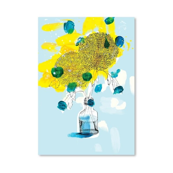 Plakát Yellow Flowers, 30x42 cm