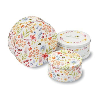 Set 3 cutii metalice pentru fursecuri Cooksmart ® Bee Happy