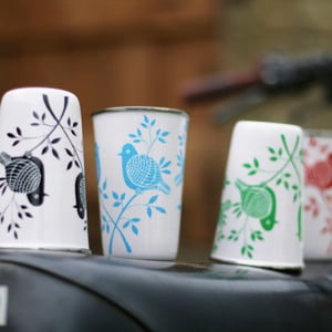 Hrnek Lolita Hand Painted Cup, modrý