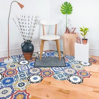 Set 10 autocolante de podea Ambiance Hexagons Salvatore, 40 x 90 cm de la Ambiance