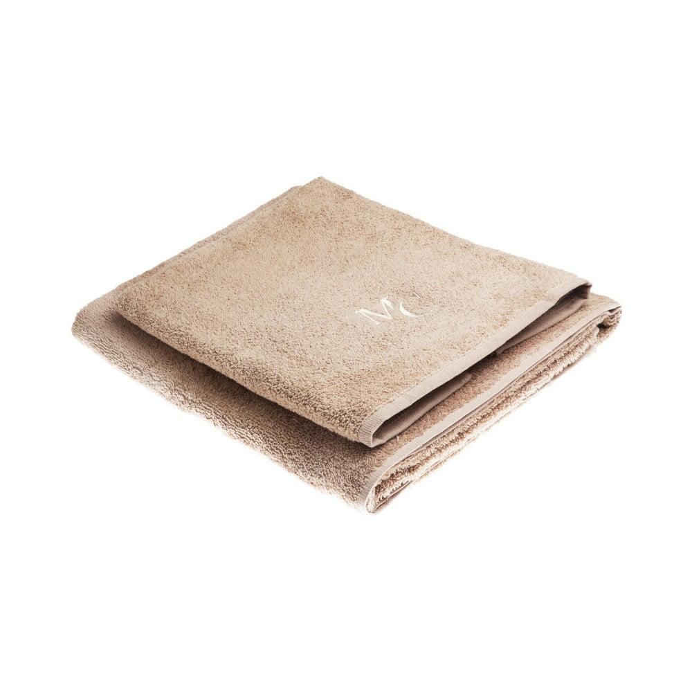Fotografie Set hnědé bavlněné osušky a ručníku z edice Marie Claire Filange