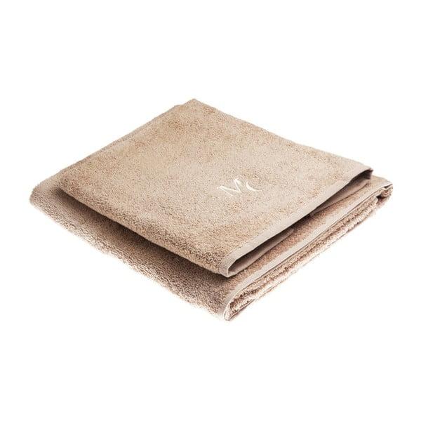 Set hnědé bavlněné osušky a ručníku z edice Marie Claire Filange