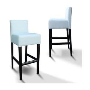 Vysoká židle 77 White Leather