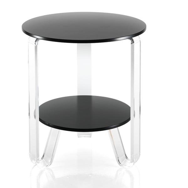 Černý konferenčný stolík Tomasucci Poole, Ø 48 cm