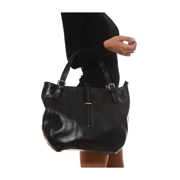 Černá kožená kabelka Isabella Rhea Eva