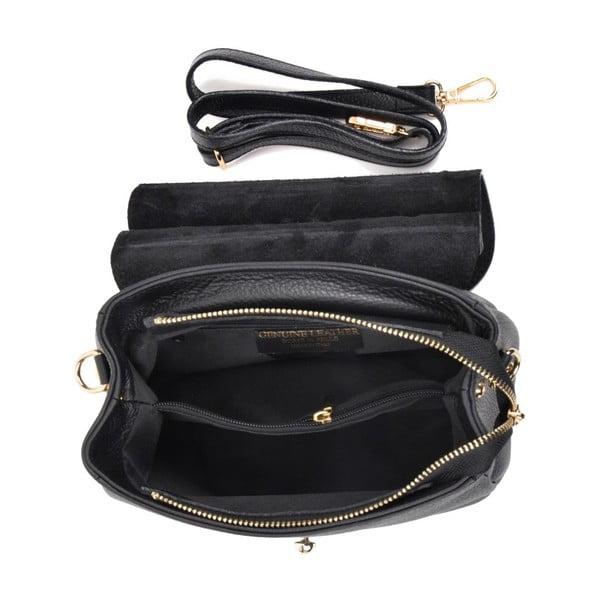 Černá kožená kabelka Luisa Vannini Maturgo