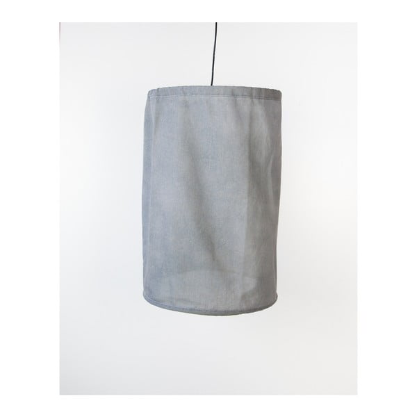 Szürke lenből és fémből készült felfüggeszthető lámpa, ø 35 cm - Surdic