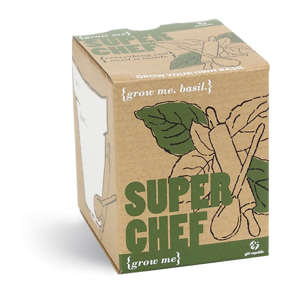 Zestaw do uprawy roślin z ziarnami bazylii Gift Republic SuperChef