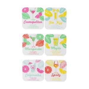 Sada 6 podtácků Le Studio Cocktails Coasters