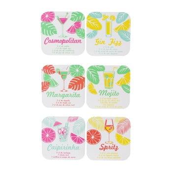 Set 6 suporturi pentru pahare Le Studio Cocktails Coasters imagine