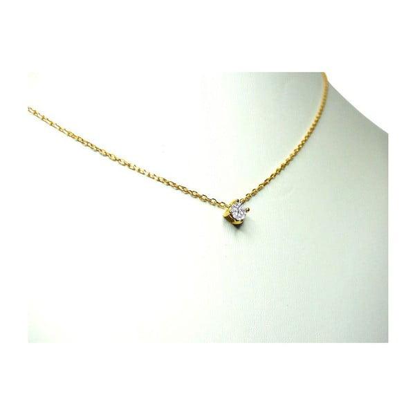 Náhrdelník s diamantem Four Prong, zlatý