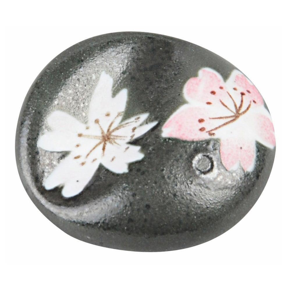 Černý keramický podstavec na hůlky Tokyo Design Studio Sakura