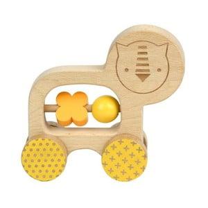 Jezdící hračka pro rozvoj jemné motoriky Petit collage Lion