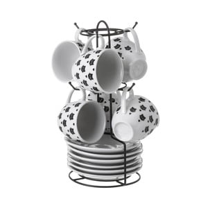 Sada 4 porcelánových šálků Unimasa Boho Cat, 100ml