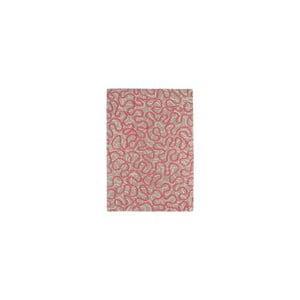 Vlněný koberec Squiggle Rapsberry, 160x230 cm