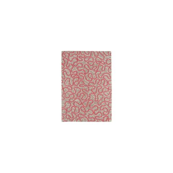 Vlněný koberec Squiggle Rapsberry, 120x170 cm