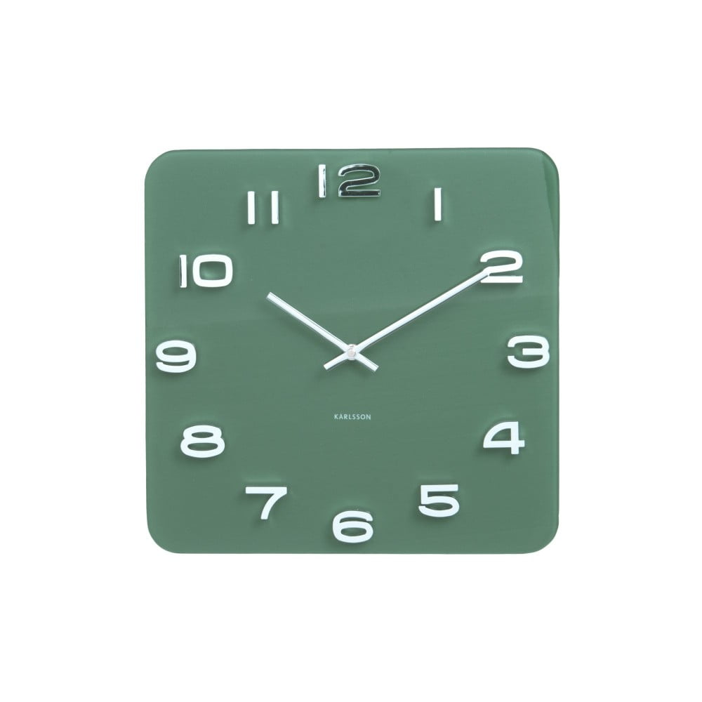 Fotografie Zelené hodiny Karlsson Vintage, 35 x 35 cm