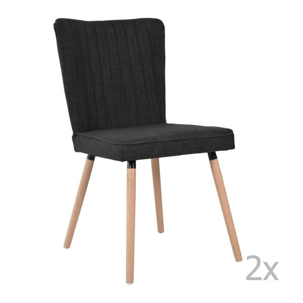 Sada 2 jídelních židlí RGE Niles, dubové nohy