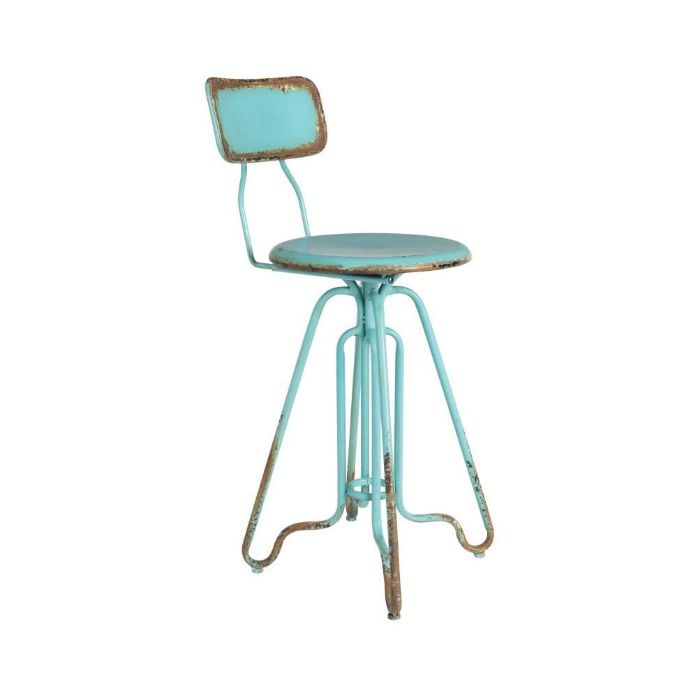 Tyrkysová kovová vysoká židle Dutchbone Ovid, výška 88 cm
