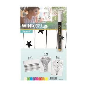 Set 3 šablon ve formátu A3 a popisovače na okno Securit® Kid's Decoration