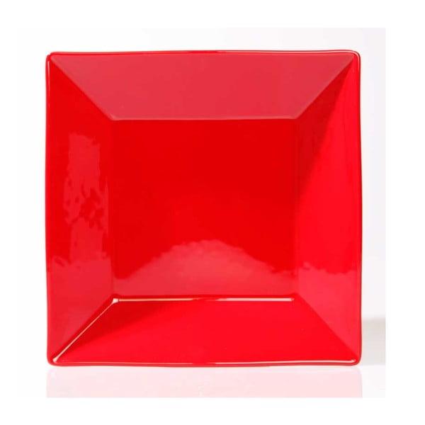 Sada šesti talířů 23 cm, červené
