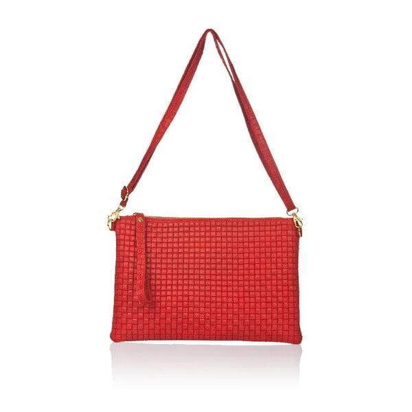 Kožená kabelka Markese 9609, červená