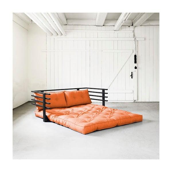 Canapea extensibilă Karup Funk Black/Orange