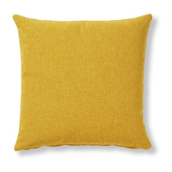 Žltý vankúš La Forma Mak, 45×45cm