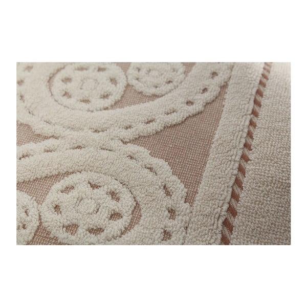 Sada 2 krémových ručníků Hurrem, 50 x 90 cm
