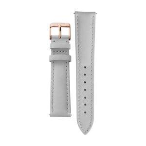 Curea din piele cu detalii argintii pentru ceasul Cluse La Bohème, gri
