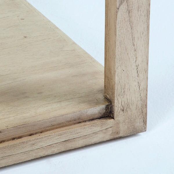 Světle hnědý konferenční stolek z lakovaného dřeva a skla Thai Natura, 130 x 80 cm