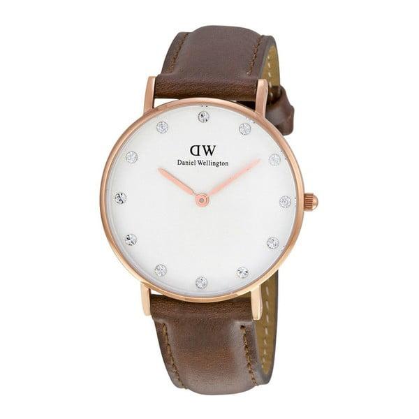 Ceas de damă Daniel Wellington St Mawes, ⌀ 34 mm, alb-roz auriu