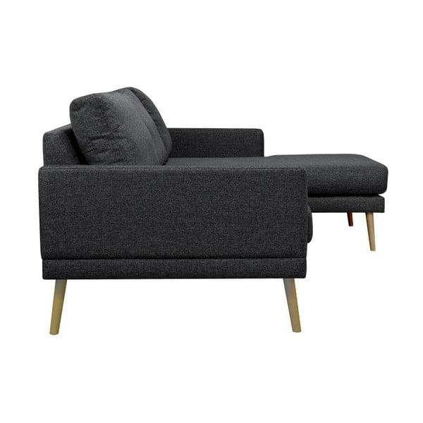 Černá rohová pohovka Windsor & Co Sofas Vega, pravý roh