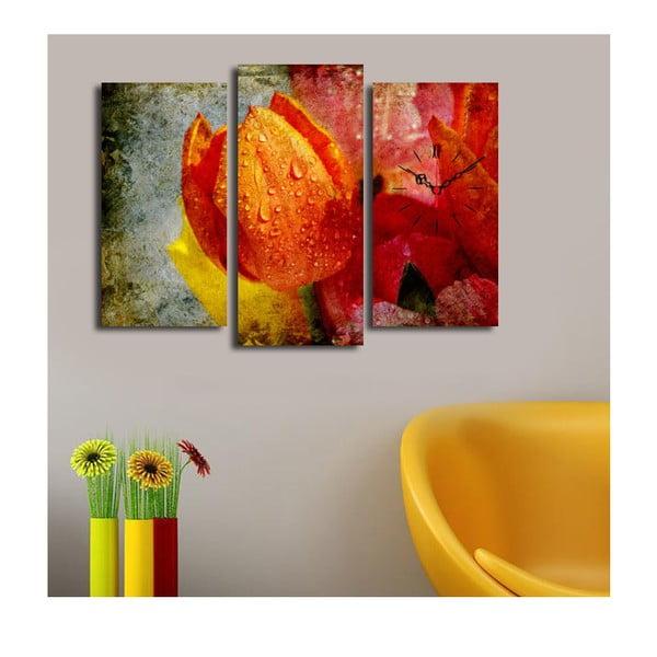 Obrazové hodiny Oranžový tulipán